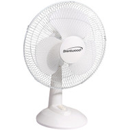 "Brentwood Koolzone 12"" Oscillating Desk Fan"
