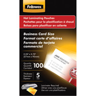 Fellowes Business Card Laminating Pouches 100 Pk