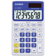 Casio Solar Wallet Calculator With 8-digit Display (blue)