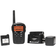 Midland Same All-hazard Handheld Weather Alert Radio (includes Drop-in Desktop Charger & Battery)