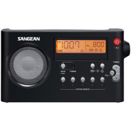Sangean Am And Fm Digital Rechargeable Compact Portable Clock Radio