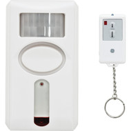 Ge 120db Motion-sensing Alarm With Ir Keychain Remote