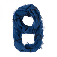 Tori Blue Plaid Infinity Scarf