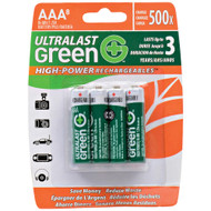Ultralast Green High-power Rechargeables Aaa Nimh Rechargeable Batteries (8 Pk)