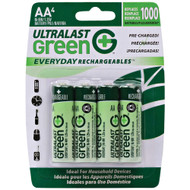 Ultralast Green Everyday Rechargeables Aa Nimh Batteries 4 Pk