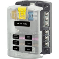 Blue Sea 5025 ST Blade Fuse Block w\/Cover - 6 Circuit w\/Negative Bus [5025]