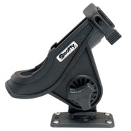 Scotty 281 Bait Caster\/Spinning Rod Holder w\/244 Flush Deck Mount - Black [281-BK]