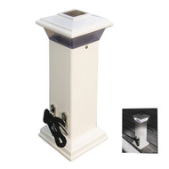 "Dock Edge Cleatlite Solar Dock Light w\/SS Mooring Cleat 12"" [96-250-F]"