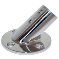"Whitecap "" O.D. 45 Degree Round Base SS Rail Fitting [6014C]"