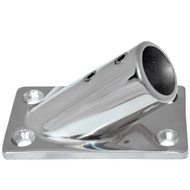 "Whitecap "" O.D. 30 Degree Rectangle Base SS Rail Fitting [6078C]"