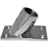 "Whitecap "" O.D. 60 Degree Rectangle Base SS Rail Fitting [6042C]"
