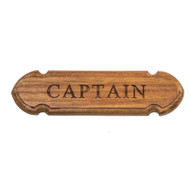 "Whitecap Teak ""CAPTAIN"" Name Plate [62670]"