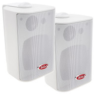 "Boss Audio MR4.3W 4"" 3-Way Marine Box Speakers (Pair) - 200W - White [MR4.3W]"