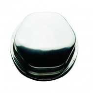 """Schmitt Faux Center Nut - Stainless Steel - 1\/2""""3\/4"""" Base Included - For Cast Steering Wheels [CAP0303]"""