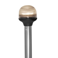 """Attwood All-Around Fold-Down Incandescent Anti-Glare Lens Light - 20"""" Aluminum Pole - 12V - Vertical Composite Base [5351-PA20-7]"""