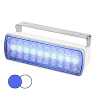 Hella Marine Sea Hawk XL Dual Color LED FloodLights - Blue\/White LED - White Housing [980950071]