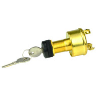 BEP 3-Position Brass Ignition Switch - OFF\/Ignition\/Start [1001606]