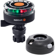 Navisafe Navilight 2NM Tricolor w\/Navimount Base  Horizontal Mount - Black [340KIT7]