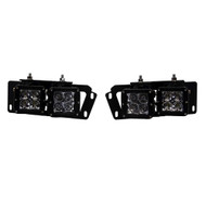 RIGID Industries 2010-2017 Dodge Ram 2500\/3500  2009-12 Dodge Ram 1500 Fog Light Mount Kit [46510]