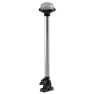 Perko Fold Down All-Round Frosted Globe Pole Light - Vertical Mount - White [1637DP0CHR]