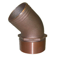"GROCO 1"" NPT Bronze 45 Degree Pipe to 1"" Hose [PTHD-1000]"