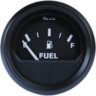 "Faria 2"" Fuel Level Gauge Metric - Euro Black [12802]"