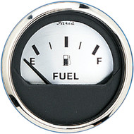 "Faria 2"" Fuel Level Gauge (E-1\/2-F) - Spun Silver [16001]"