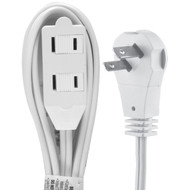 GE 50360 2-Outlet Wall Hugger Extension Cord, 6ft