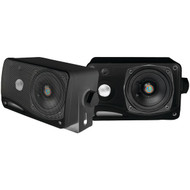 "Pyle PLMR24B Hydra Series 3.5"" 200-Watt 3-Way Weatherproof Mini-Box Speaker System (Black)"
