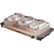 Brentwood Appliances BF-315 4.5-Quart 3-Pan Buffet Server & Warming Tray