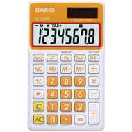 CASIO SL300VCOESIH Solar Wallet Calculator with 8-Digit Display (Orange)