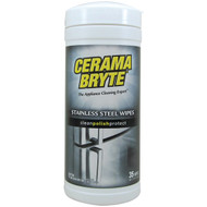 Cerama Bryte 48635 Stainless Steel Cleaning Wipes, 35-ct