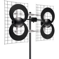 "Antennas Direct C4-CJM ClearStream 4 Quad-Loop UHF Outdoor Antenna with 20"" Mount"