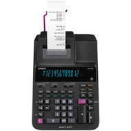 CASIO DR210R-BK Heavy-Duty 12-Digit Printing Calculator with Clock
