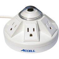 ACCELL D080B-012K Powramid 6-Outlet Power Center and Surge Protector (White)