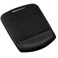 Fellowes 9252001 PlushTouch Mouse Pad Wrist Rest with FoamFusion (Black)