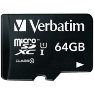 Verbatim 44084 64GB Class 10 microSDXC Card with Adapter