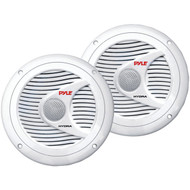 "Pyle PLMR60W Hydra Series 6.5"" 150-Watt Dual-Cone Marine Speakers (White)"