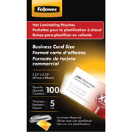 Fellowes 52031 Business Card Laminating Pouches, 100 pk