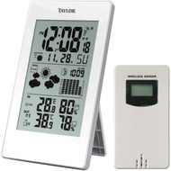 Taylor Precision Products 1735 Digital Weather Forecaster with Barometer & Alarm Clock