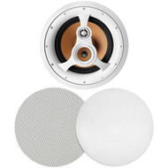 "BIC America H-310C 250-Watt 3-Way 10"" In-Ceiling Speaker with Pivoting Tweeter & Midrange Plus Metal & Cloth Grilles"