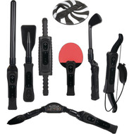 CTA Digital WI-8SRB Nintendo Wii 8-in-1 Sports Pack for Wii Sport Resort (Black)