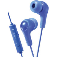 JVC HAFX7GA Gumy Gamer Earbuds with Microphone (Blue)