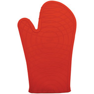 "Gourmet By Starfrit 080235-006-0000 Silicone Oven Mitt, 12"", Red"