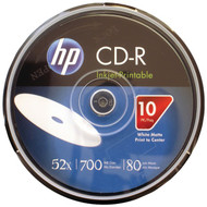 HP CR52WJH010CB 700MB 80-Minute 52x Printable CD-Rs, 10-ct Spindle