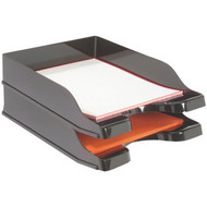 Deflecto 63904 Docutray Multidirectional Stacking Trays, 2 pk