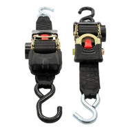 "Camco Retractable Tie Down Straps - 2"" Width 6 Dual Hooks [50031]"