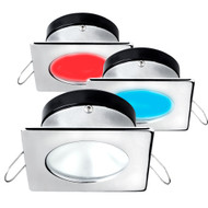 i2Systems Apeiron A1120 Spring Mount Light - Square\/Round - Red, Cool White  Blue - Brushed Nickel [A1120Z-42HAE]