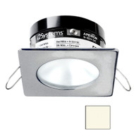 i2Systems Apeiron PRO A503 - 3W Spring Mount Light - Square\/Round - Neutral White - Brushed Nickel Finish [A503-42BBD]