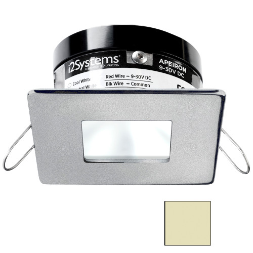 i2Systems Apeiron PRO A503 - 3W Spring Mount Light - Square\/Square - Warm White - Brushed Nickel Finish [A503-44CBBR]